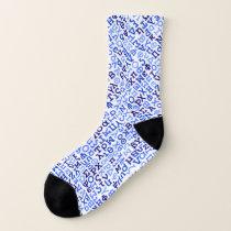 Greek alphabet socks