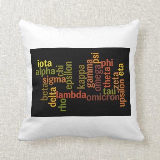 Greek Alphabet (Word Cloud) Pillow