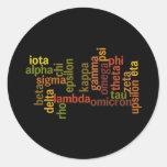 Greek Alphabet (Word Cloud) Stickers
