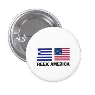 Greek American 1 Inch Round Button