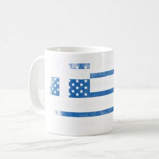 Greek American Flag   Greece and USA Design Coffee Mug