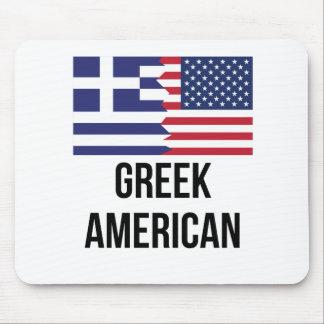 Greek American Flag Mouse Pad