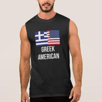 Greek American Flag Sleeveless Shirt
