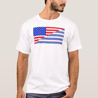 Greek American Flag T-Shirt