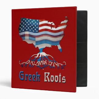 Greek American Flags Binder