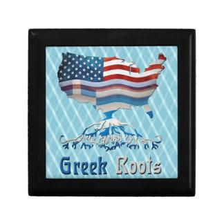 Greek American Flags Giftbox Keepsake Box