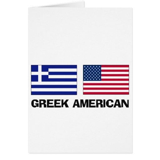 Greek American Greeting Card