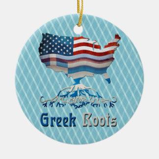 Greek American Roots Decoration