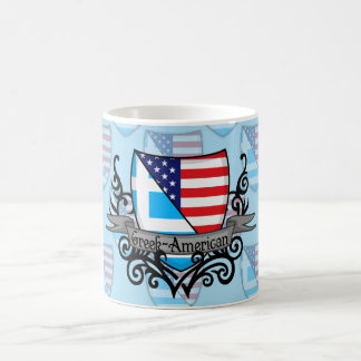 Greek-American Shield Flag Coffee Mug