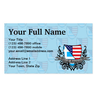 Greek-American Shield Flag Double-Sided Standard Business Cards (Pack Of 100)