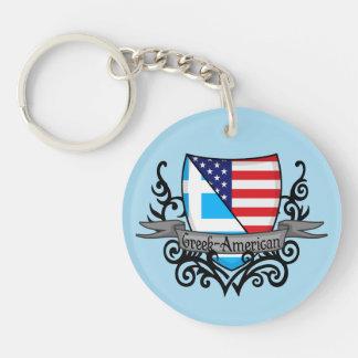 Greek-American Shield Flag Keychain