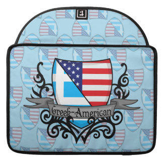 Greek-American Shield Flag Sleeves For MacBook Pro