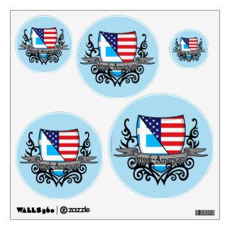 Greek-American Shield Flag Wall Sticker