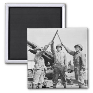 Greek-American Soldiers, 1943 2 Inch Square Magnet