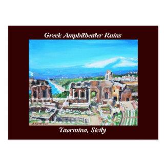 Greek Amphitheater Ruins Postcard