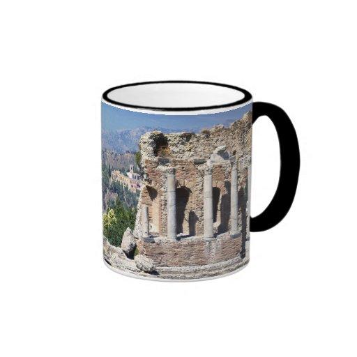 Greek Amphitheatre 2 Ringer Coffee Mug