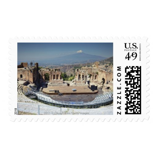 Greek Amphitheatre 3 Postage Stamps