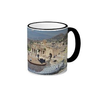 Greek Amphitheatre 3 Ringer Mug