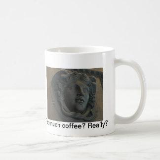 Greek architectural bas-relief coffee mug