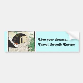 Greek Archway Car Bumper Sticker