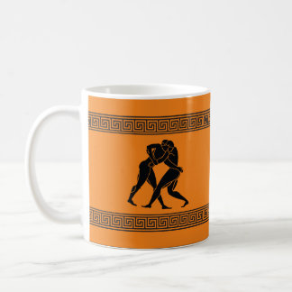 Greek Art - Will Wrestle for Coffee Classic White Coffee Mug