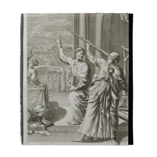 Greek Astronomer Studying the Stars, illustration iPad Case