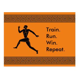Greek Athlete Sports Running Winning Formula Postcard