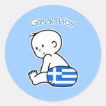 Greek Baby Round Stickers