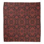 Greek Baroque Arabesque Pattern Black Terracotta Bandana