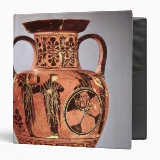Greek black-figure amphora 3 ring binder