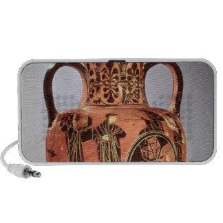 Greek black-figure amphora travelling speaker