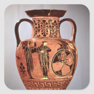 Greek black-figure amphora square sticker