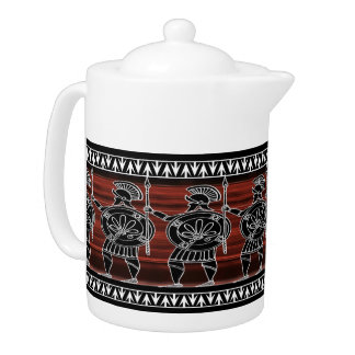 Greek Black Figure Guard Teapot