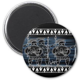 Greek Black Figure Troop 2 Inch Round Magnet