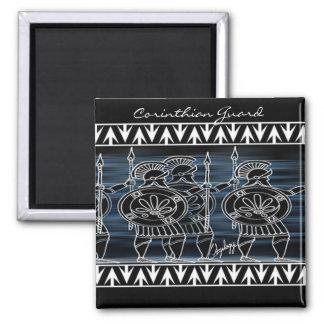 Greek Black Figure Troop 2 Inch Square Magnet