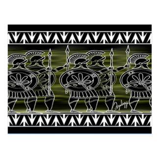 Greek Black Figure Troop Postcard