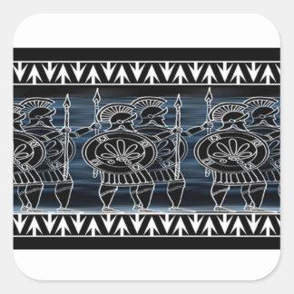 Greek Black Figure Troop Square Sticker