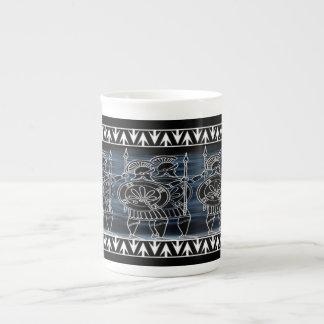 Greek Black Figure Troop Tea Cup
