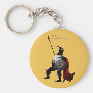 Greek Black Figure Warrior Basic Round Button Keychain