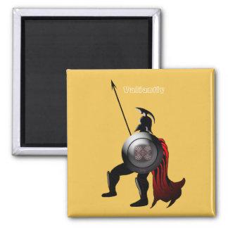 Greek Black Figure Warrior 2 Inch Square Magnet