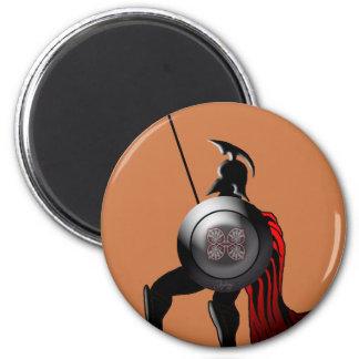 Greek Black Figure Warrior 2 Inch Round Magnet