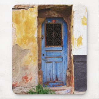 Greek Blue Door - Crete Mouse Pad