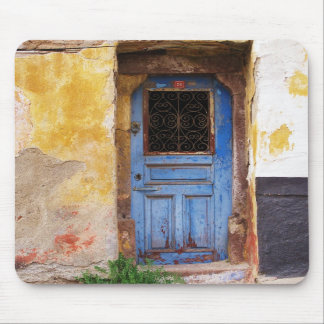 Greek Blue Door - Crete Mousepad
