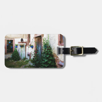 Greek Blue Door in a Flower Garden in Greece Bag Tag