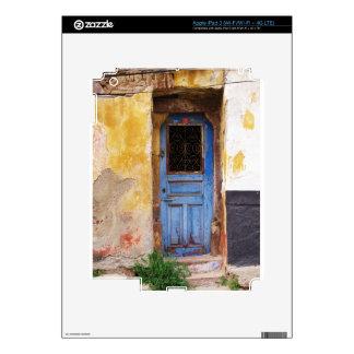 Greek Blue door in CRETE, Greece Decals For iPad 3