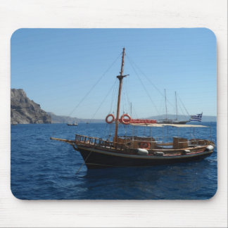 Greek Boat Mouse Pad