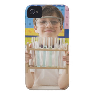 Greek boy holding rack of test tubes Case-Mate iPhone 4 case