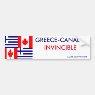 GREEK-CANADIAN BUMPER STICKER