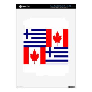 GREEK-CANADIAN SKIN FOR iPad 3