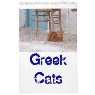 Greek Cats Wall Calendars